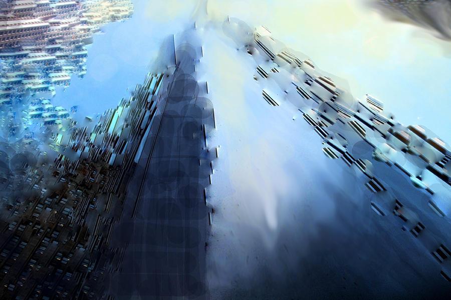 Abstract Digital Art - Look Up A Way Up by Ian  MacDonald