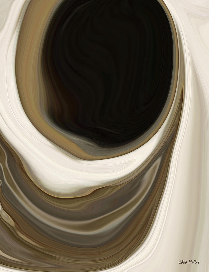 Abstract Painting - Look You Down Into Your Well by Chad Miller