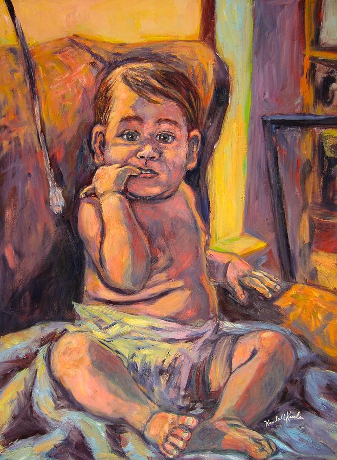 Baby Painting - Looking At Me by Kendall Kessler