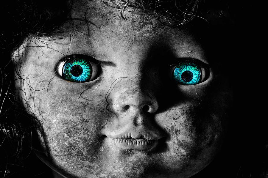 Creepy Doll Photograph - Looking At You Kid by JC Findley