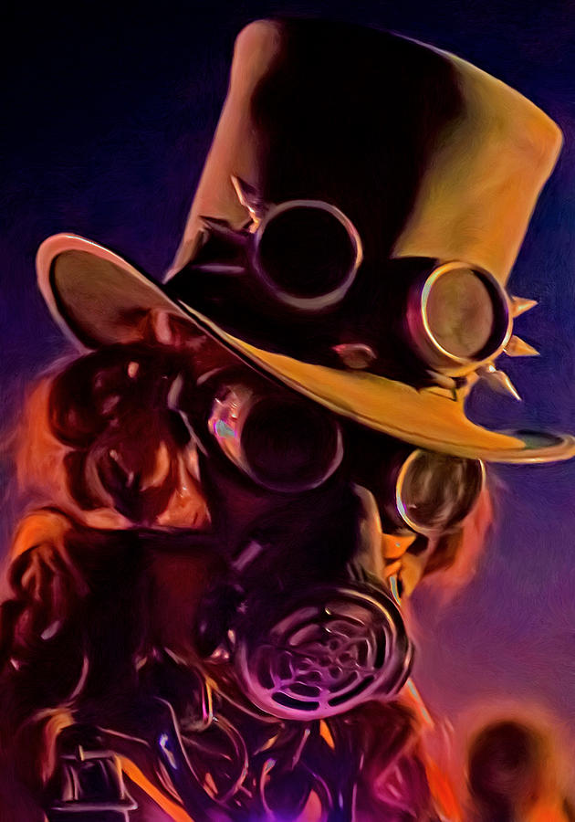 Steampunk Painting - Looking At You by Michael Pickett