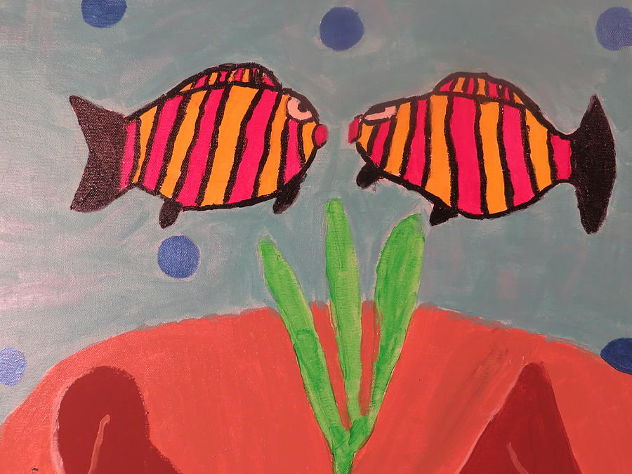Fish Painting - Looking At You by Ronald Weatherford