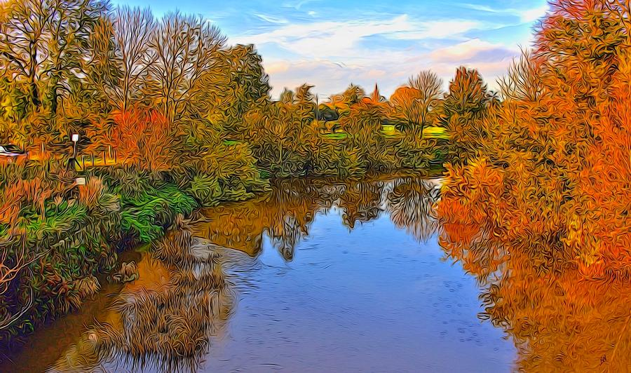 River Photograph - Looking Down The River by Peter Jackson