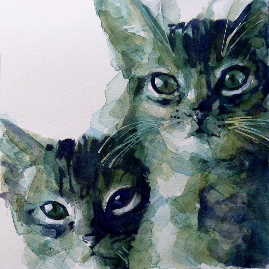 Cats Painting - Looking For A Home by Paul Lovering