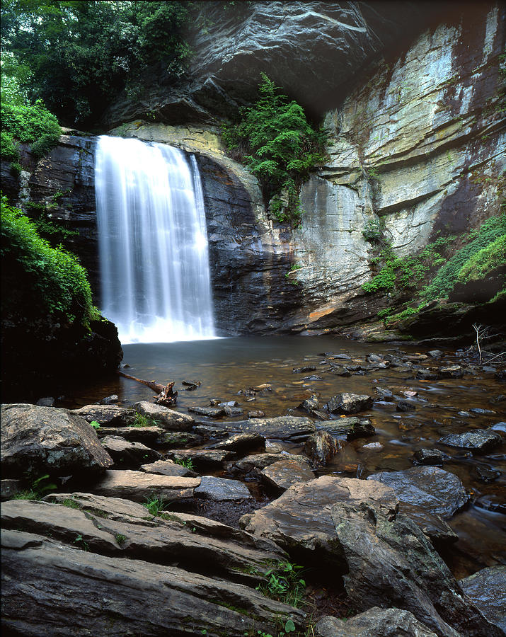 Looking Glass Falls Photograph - Looking Glass Falls by Ray Mathis
