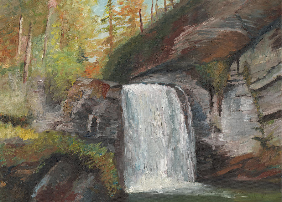 Surrealist Painting - Looking Glass Falls by William Killen