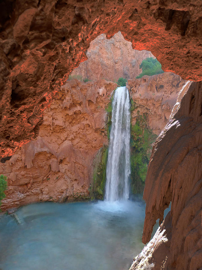 Havasupai Photograph - Looking Out From The Cave by Alan Socolik