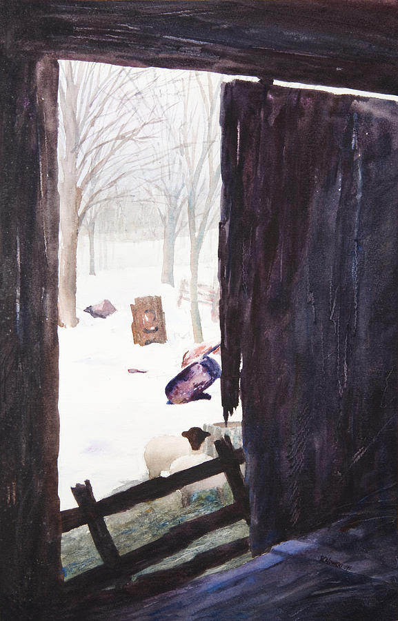 Landscape Painting - Looking Out Looking In by Rachel Christine Nowicki