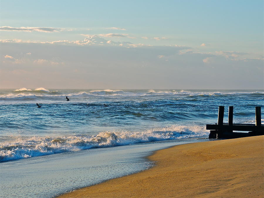 Ocean Photograph - Looking Out To Sea by Eve Spring