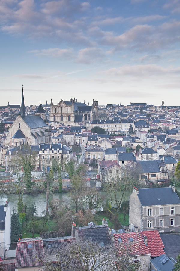 Looking Over The Rooftops Of Poitiers Photograph by Julian Elliott Photography