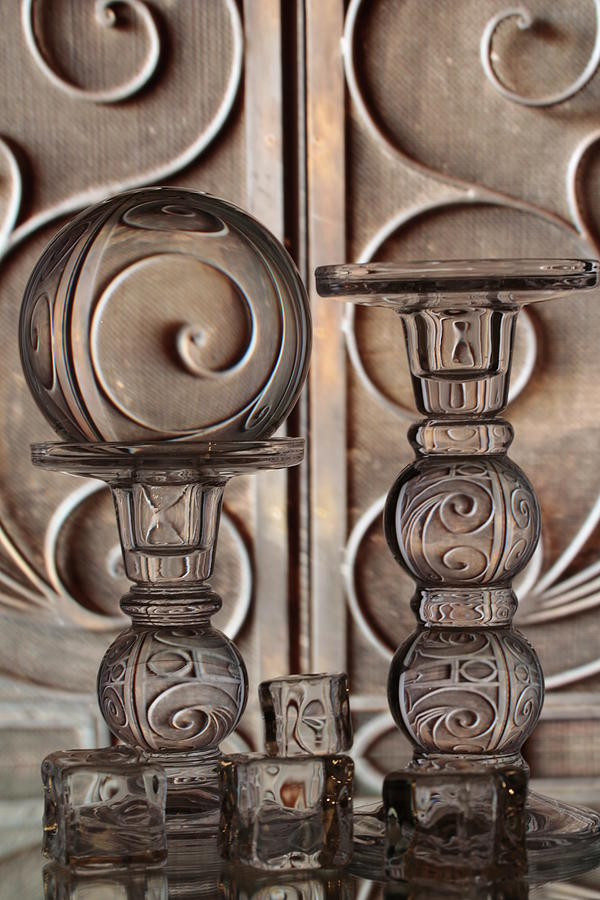 Glass Work Photograph - Looking Through The Doorknobs Keyhole by Casey Thomas