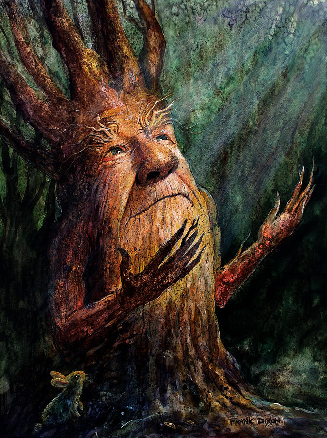 Treetch Painting - Looking To The Light by Frank Robert Dixon