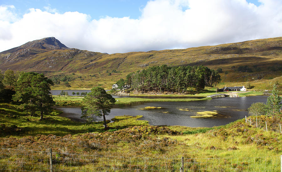 Looking Towards Affric Lodge In Loch Affric Scotland Photograph