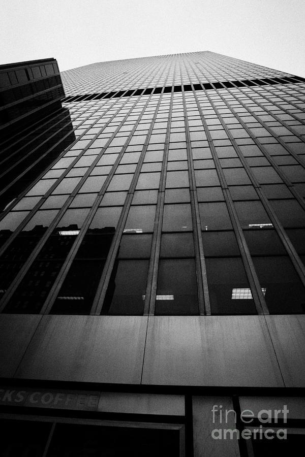 Usa Photograph - Looking Up At 1 Penn Plaza On 34th Street New York City Usa by Joe Fox