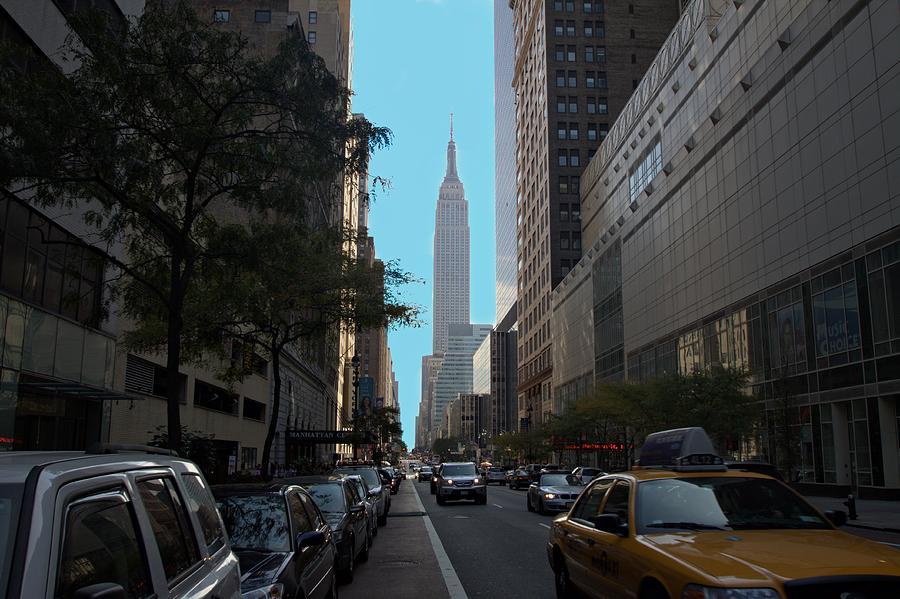Looking Up Eight Ave In Ny. Ny Photograph by Edward Kocienski