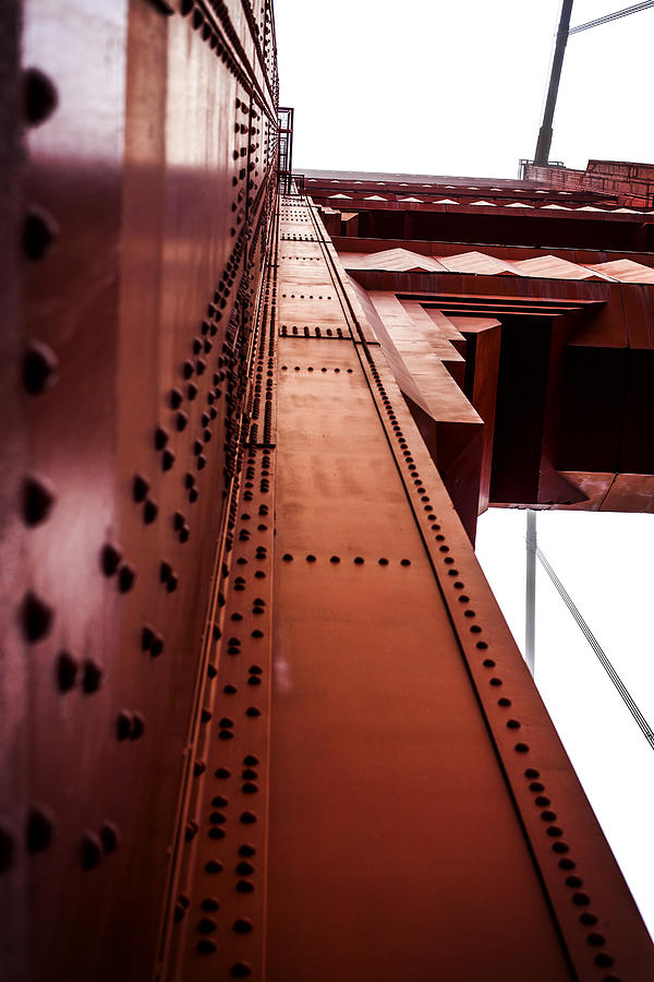 Golden Gate Bridge Photograph - Looking Up The Golden Gate Bridge by SFPhotoStore