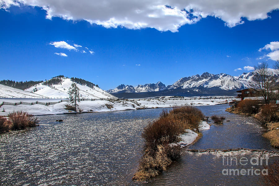 Rocky Mountains Photograph - Looking Up The Salmon River by Robert Bales