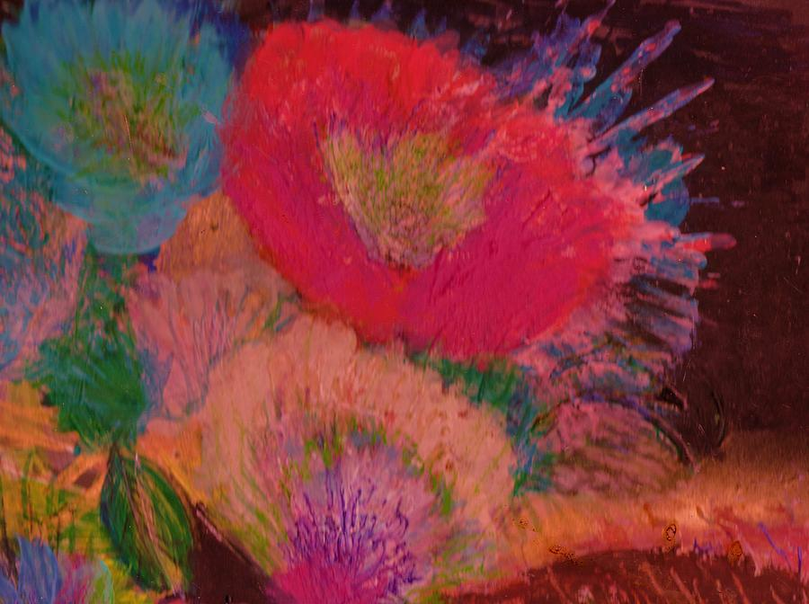 Flowers Painting - Looking Upwards by Anne-Elizabeth Whiteway