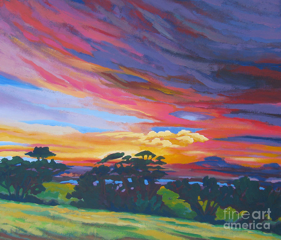 Amador Painting - Looking West From Amador Hills by Vanessa Hadady BFA MA