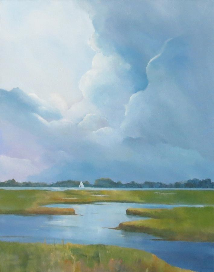 Clouds Painting - Looking West by Jim Christley