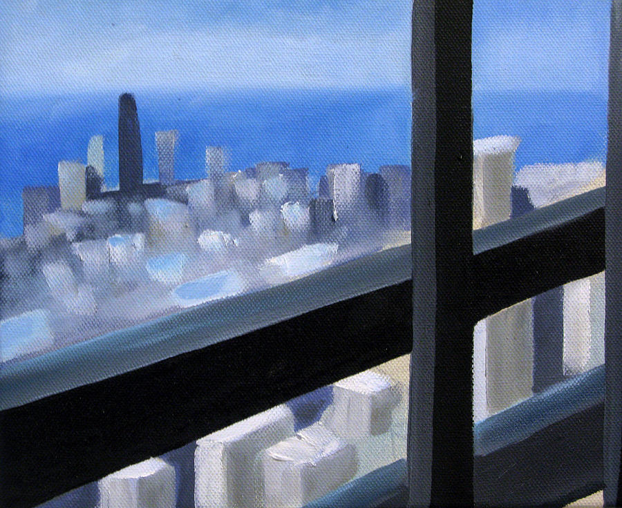 Cityscape Painting - Lookout  by Christina Rahm Galanis