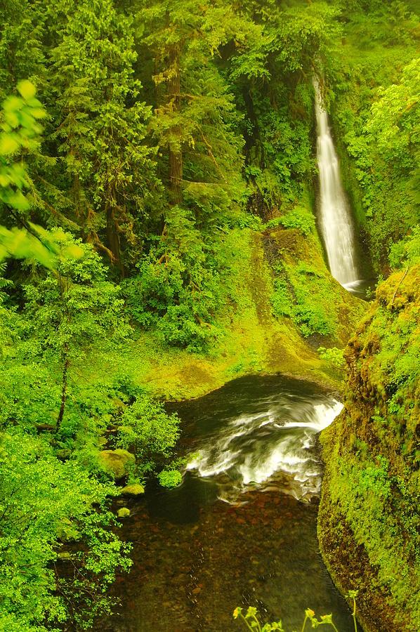 Waterfalls Photograph - Loowit Falls by Jeff Swan