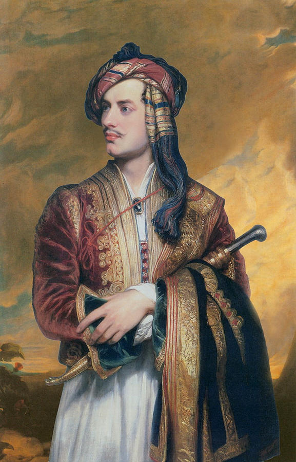 Lord Byron In Albanian Dress Painting