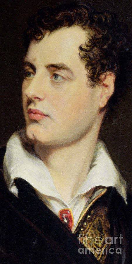 Byron Painting - Lord Byron by William Essex