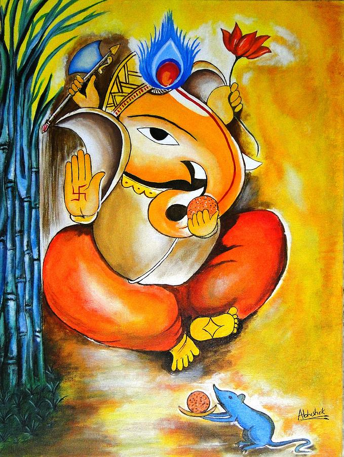 Lord Ganesh Painting by Abhishek Purohit