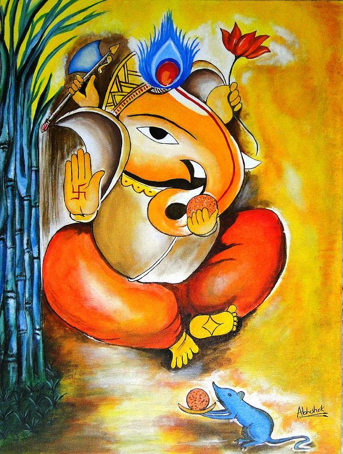 Modern Art Paintings Of Lord Ganesha | www.pixshark.com ...