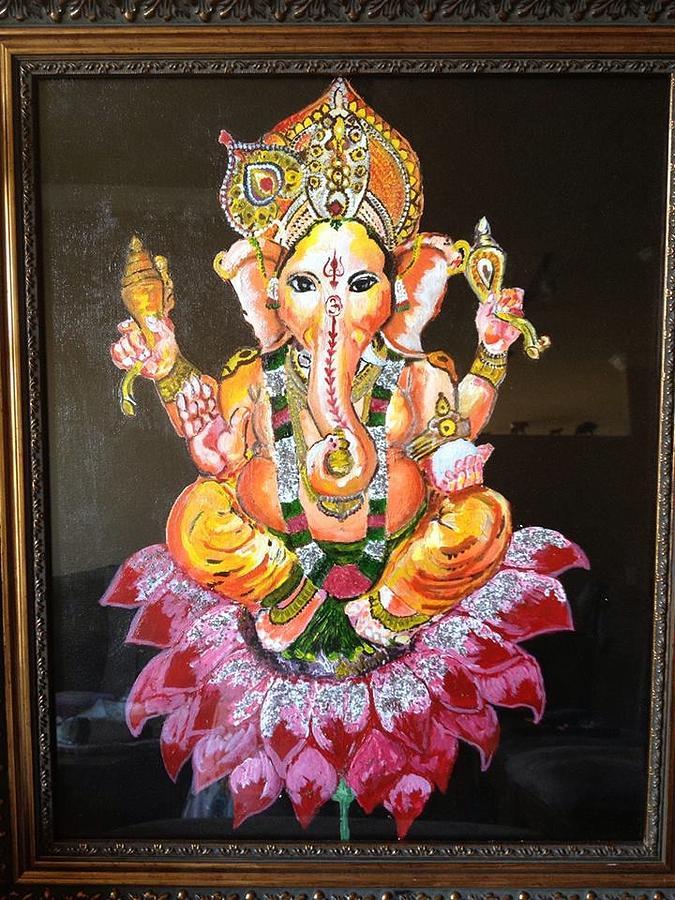 God Painting - Lord Ganesh by Pallavi Sharma