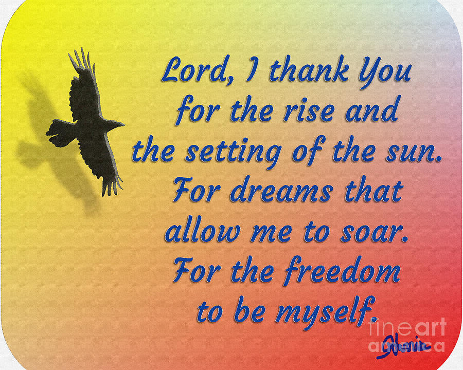 Freedom Painting - Lord I Thank You for the Freedom by Pharris Art