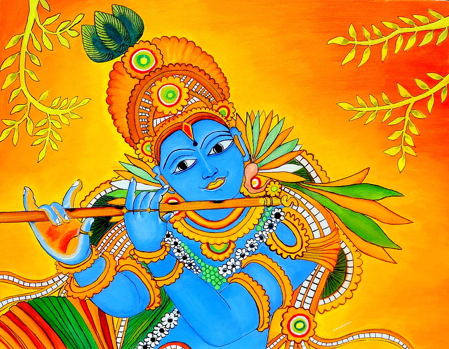 Lord Krishna Painting by Simi Sherin