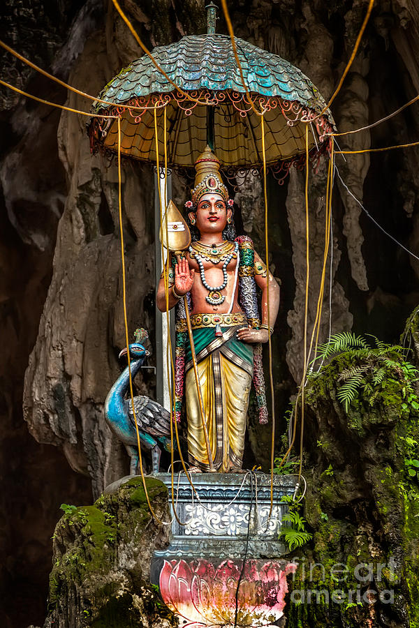 Batu Caves Photograph - Lord Murugan Statue by Adrian Evans