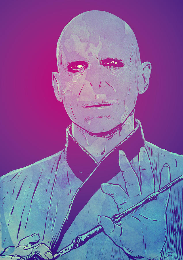 Harry Potter Drawing - Lord Voldemort by Giuseppe Cristiano