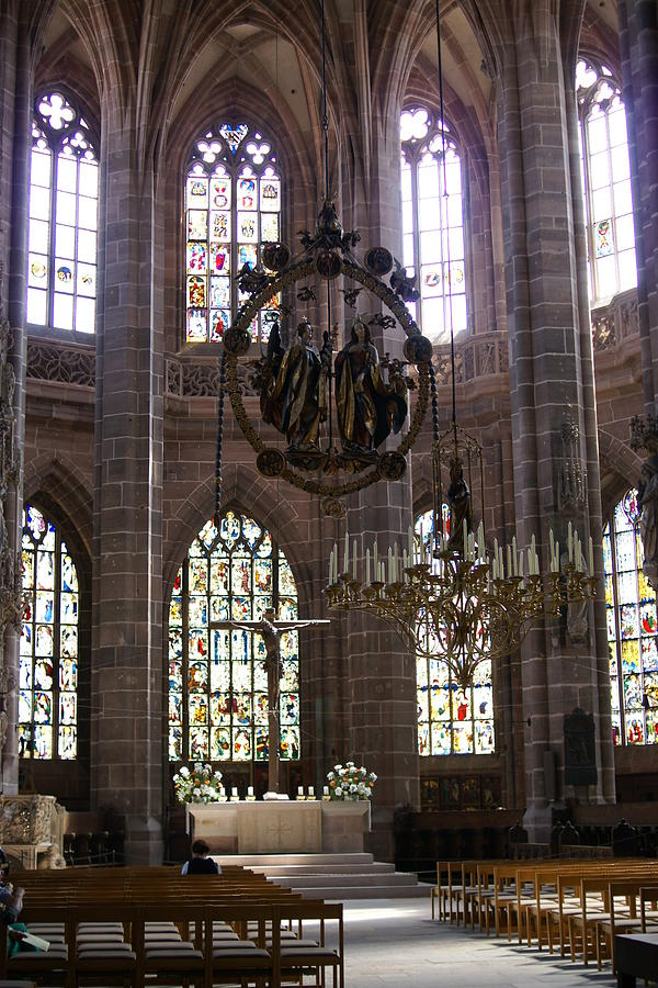 Germany Photograph - Lorenzkirche in Nuernberg by Heidi Poulin