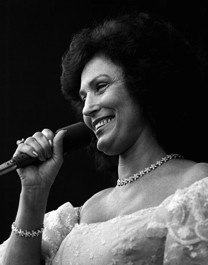Retro Images Archive Photograph - Loretta Lynn Singing  by Retro Images Archive