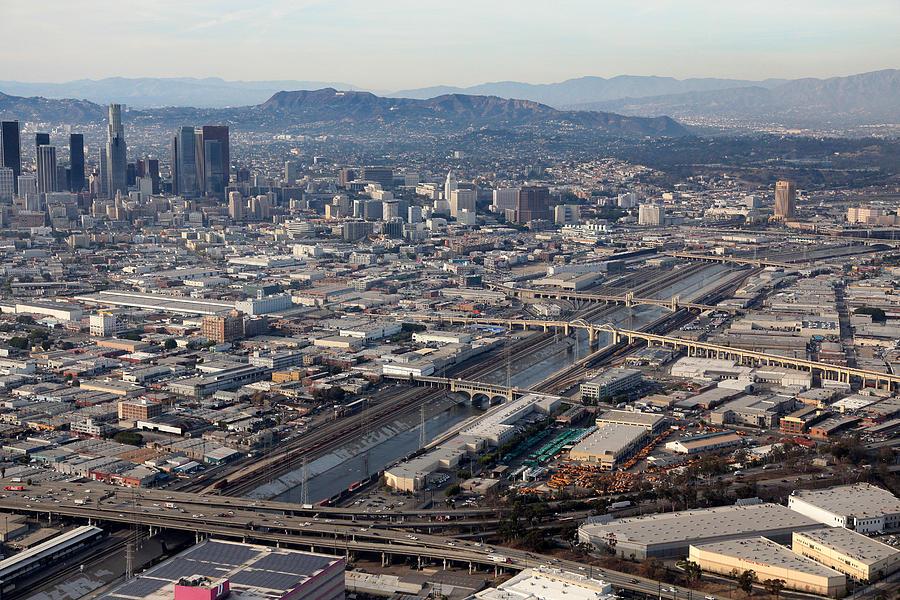 Bridge Photograph - Los Angeles Bridges Aerial by Kevin  Break