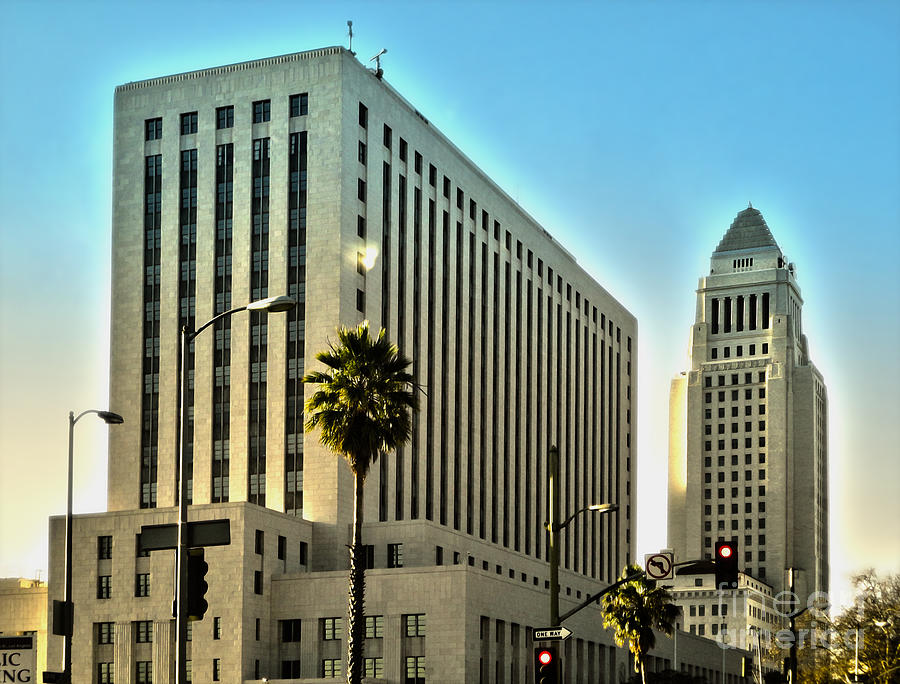 Los Angeles City Hall Photograph - Los Angeles City Hall by Gregory Dyer