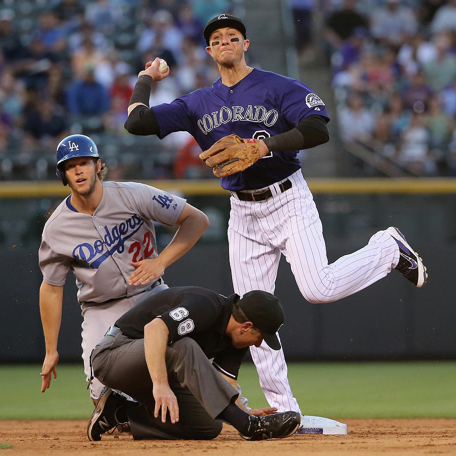 Los Angeles Dodgers V Colorado Rockies Photograph by Doug Pensinger
