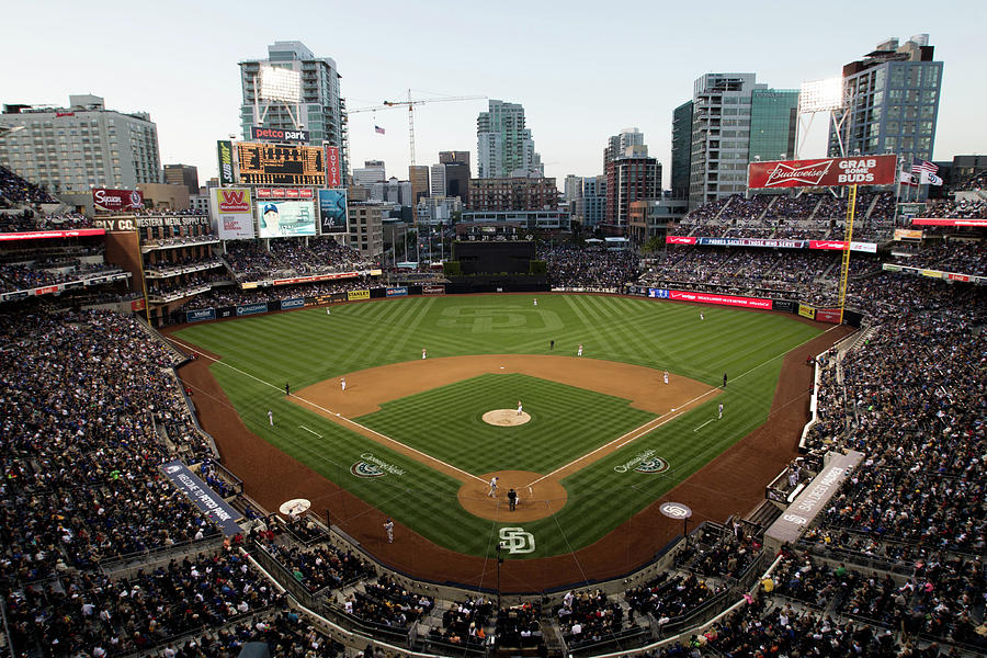 Los Angeles Dodgers V. San Diego Padres Photograph by Rob Leiter