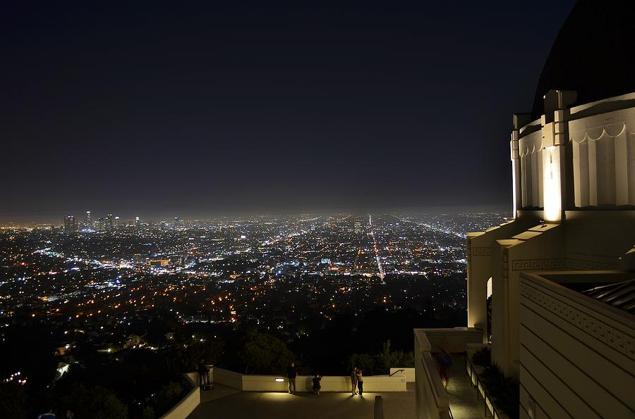 Los Angeles Photograph - Los Angeles Skyline From Griffith Observatory by David Lobos