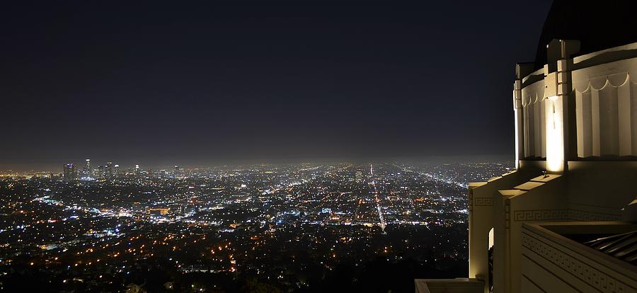 Los Angeles Photograph - Los Angeles Skyline Panorama From The Griffith Observatory by David Lobos