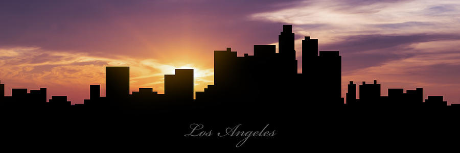 Los Angeles Photograph - Los Angeles Sunset by Aged Pixel