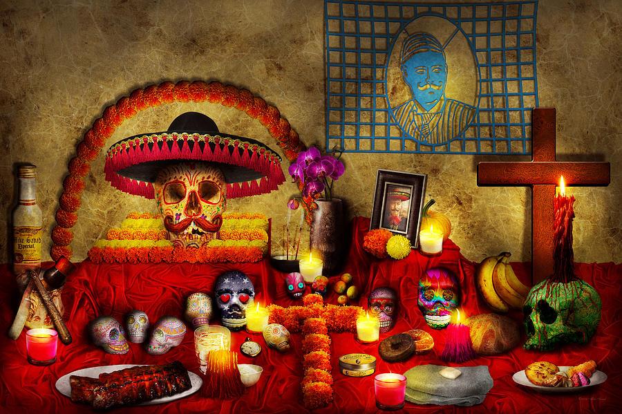 Self Photograph - Los Dios Muertos - Rembering Loved Ones by Mike Savad