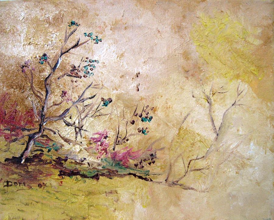 Landscape Paintings Painting - Los Horgolitos 2 by Doris Cohen