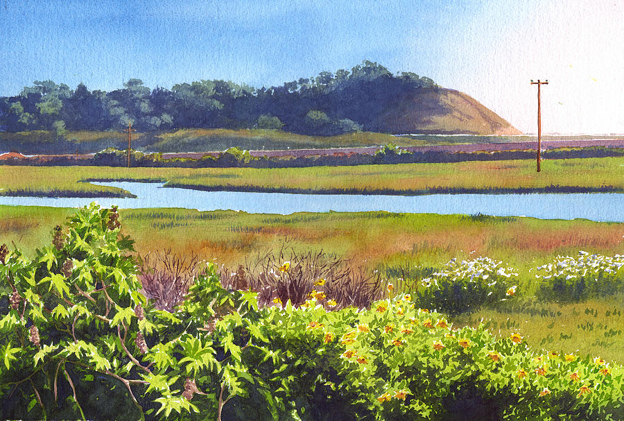 Southern California Painting - Los Penasquitos Creek Torrey Pines by Mary Helmreich