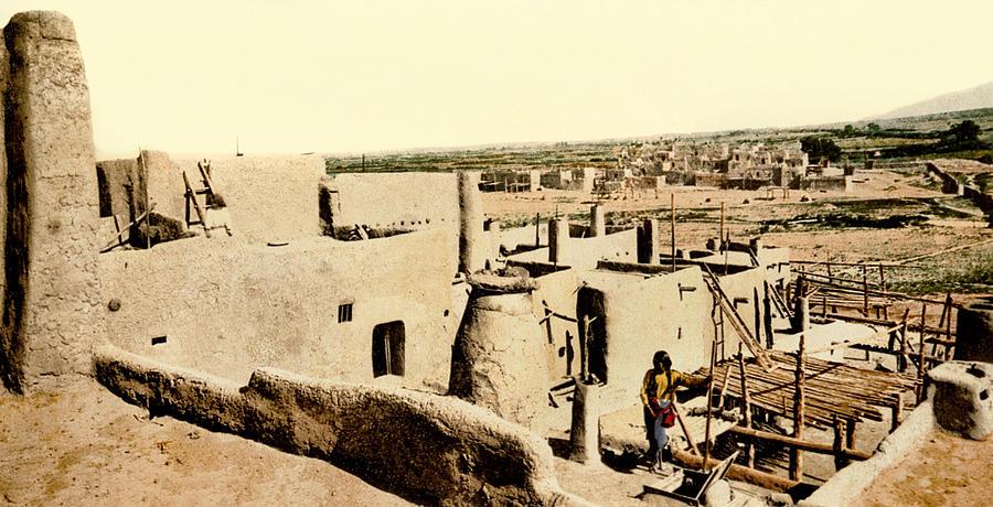 1890s Photograph - Los Pueblos De Taos by Underwood Archives