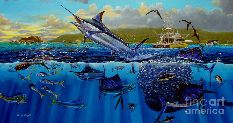 Marlin Painting - Los Suenos by Carey Chen