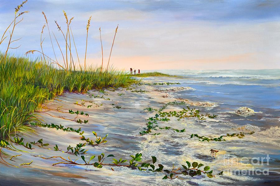 Beach Painting - Losing Ground by AnnaJo Vahle